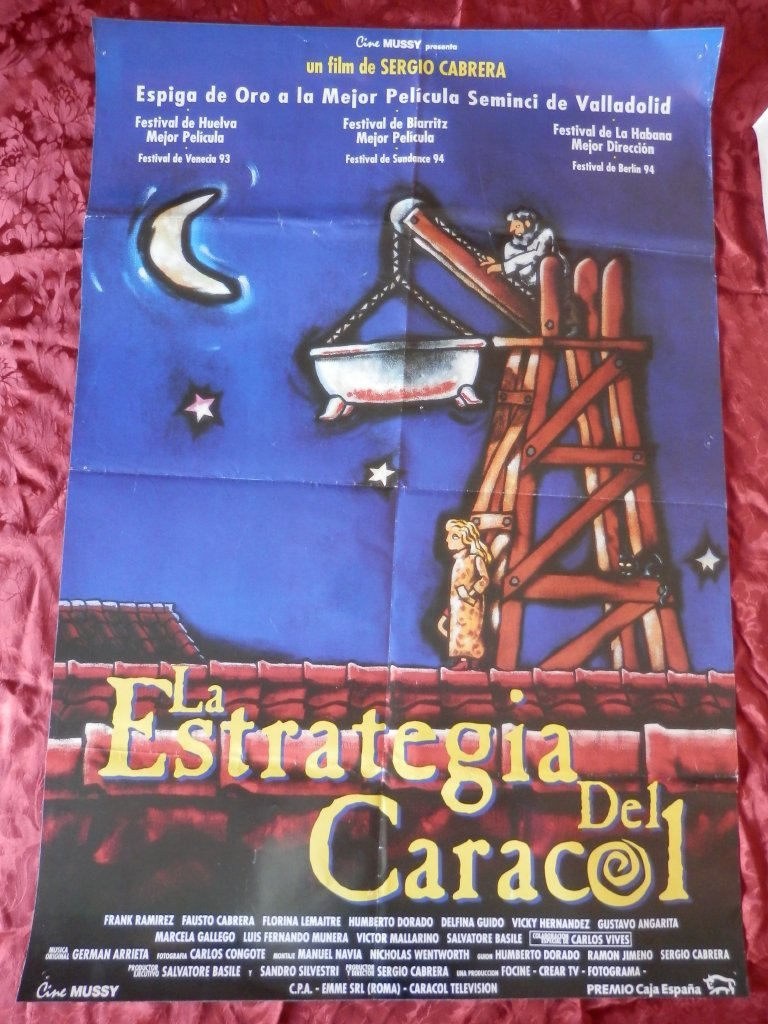 POSTER CARTEL ORIGINAL PELICULA: LA ESTRATEGIA DEL CARACOL SERGIO ...